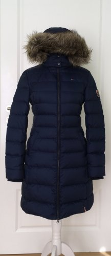Tommy Hilfiger Denim Down Coat dark blue polyester