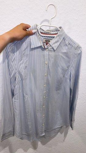 Tommy Hilfiger Denim Camicia blusa bianco-blu Cotone