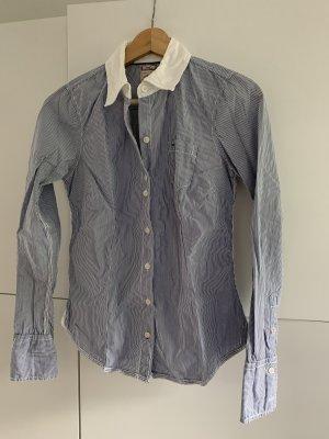 Tommy Hilfiger denim Bluse blau weiß gestreift, small