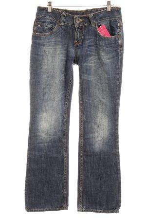 Tommy Hilfiger Denim Boot Cut Jeans dunkelblau Washed-Optik