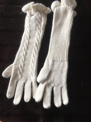 Tommy Hilfiger Denim Knitted Gloves natural white wool