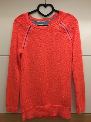 Tommy Hilfiger Denim Crochet Sweater neon orange-neon pink