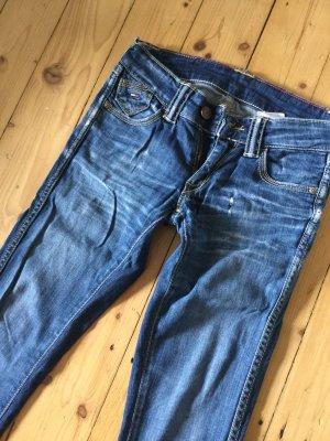 Tommy Hilfiger Denim Hose Jeans Push-up Jeanshose vintage mit Waschung gr. 24 S lang