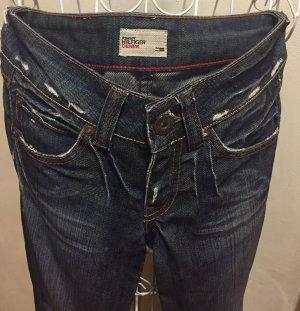 Tommy Hilfiger Denim Boyfriend jeans blauw Katoen