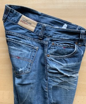 Tommy Hilfiger denim Jeans Used biker Look