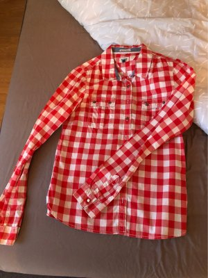 Hilfiger Denim Checked Blouse white-red