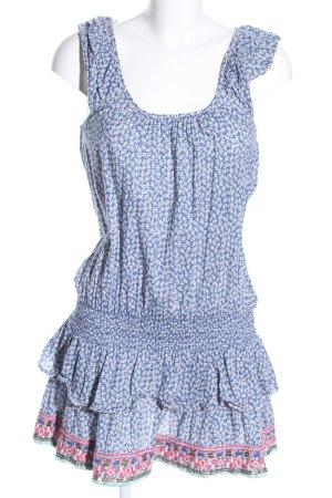 Tommy Hilfiger Denim Minikleid blau-weiß Blumenmuster Casual-Look