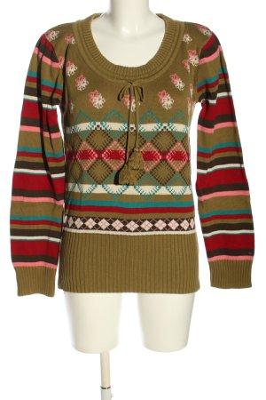 Tommy Hilfiger Denim Norwegerpullover Motivdruck Street-Fashion-Look
