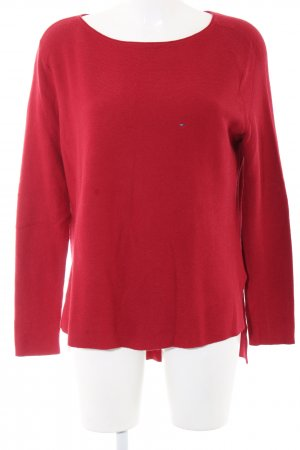 Tommy Hilfiger Denim Oversized Pullover rot Casual-Look