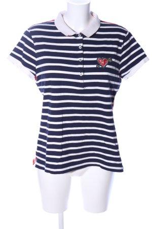 Tommy Hilfiger Denim Polo-Shirt Streifenmuster Casual-Look