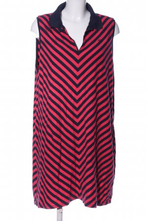 Tommy Hilfiger Denim Polo Dress black-pink striped pattern casual look