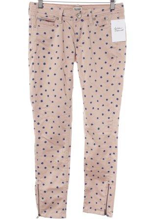 Tommy Hilfiger Denim Skinny Jeans altrosa-dunkelblau Punktemuster Casual-Look