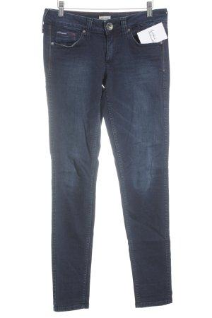 Tommy Hilfiger Denim Slim Jeans dunkelblau Logoprägung