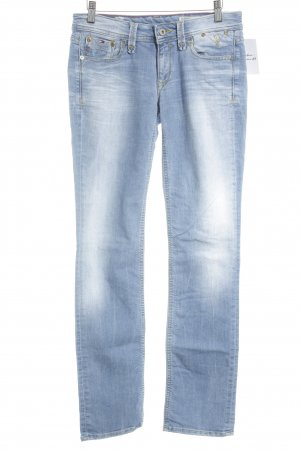 Tommy Hilfiger Denim Slim Jeans himmelblau Washed-Optik