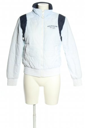 Tommy Hilfiger Denim Quilted Jacket white-blue quilting pattern casual look