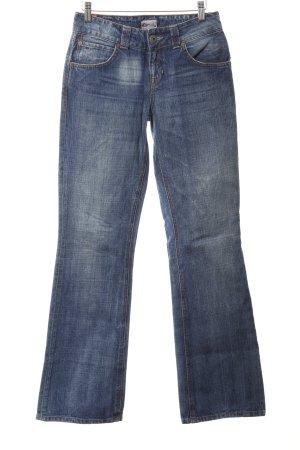 Tommy Hilfiger Denim Straight-Leg Jeans blau Bleached-Optik