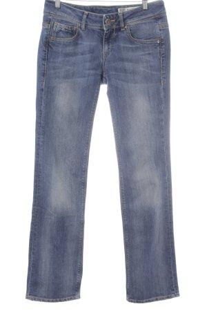 Tommy Hilfiger Denim Straight-Leg Jeans blau Logo-Applikation