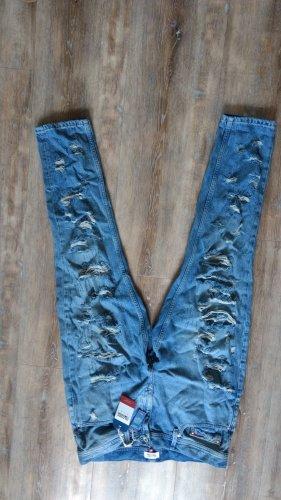 Tommy Hilfiger Pantalon boyfriend bleu azur coton