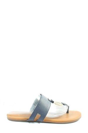Tommy Hilfiger Sandały japonki niebieski W stylu casual