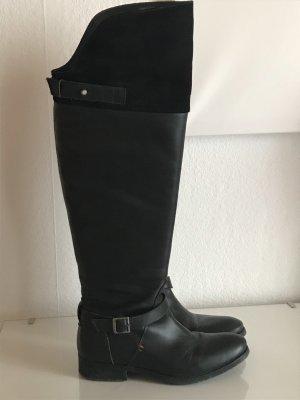Tommy Hilfiger Overknees black leather