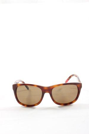 Tommy Hilfiger eckige Sonnenbrille braun-hellorange Farbverlauf Casual-Look