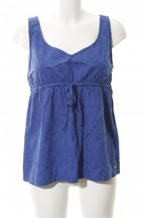 Tommy Hilfiger Empire Waist Top blau florales Muster Casual-Look