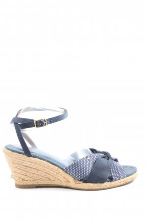 Tommy Hilfiger Espadrille Sandals blue-white spot pattern casual look
