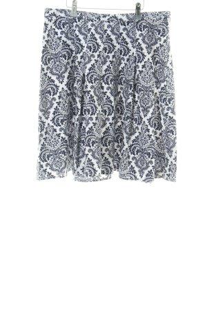 Tommy Hilfiger Faltenrock weiß-schwarz abstraktes Muster Casual-Look