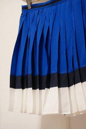 Tommy Hilfiger Faltenrock Gr. 36 sommerlich leicht, blau-weiß-schwarz