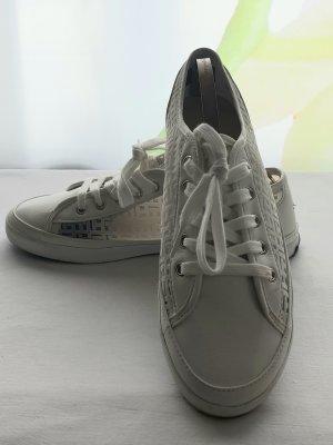 Tommy Hilfiger Sneakers met veters wit Leer