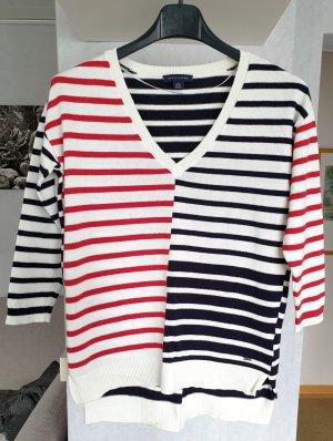 Tommy Hilfiger Feinstrick Pullover Streifen Strickpullover weiß-blau-rot XS