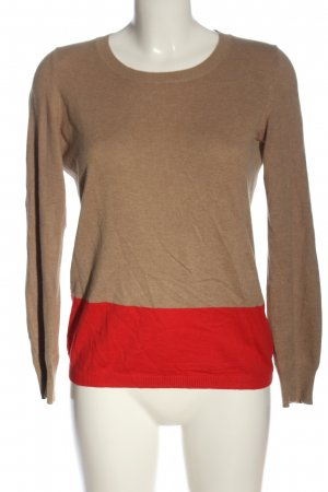 Tommy Hilfiger Feinstrickpullover braun-rot Casual-Look