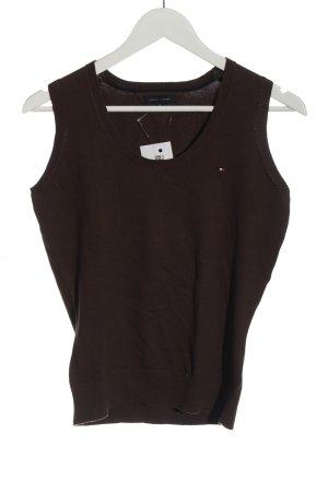 Tommy Hilfiger Sweter bez rękawów z cienkiej dzianiny brązowy W stylu casual