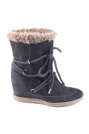 Tommy Hilfiger Fur Boots black