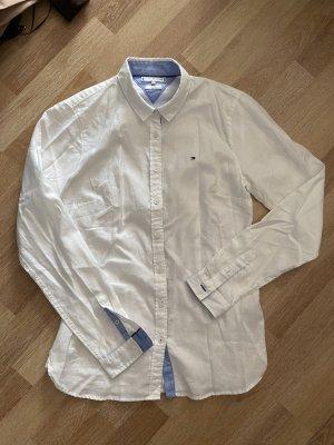 Tommy Hilfiger Fitted Hemd 34 weiß blau