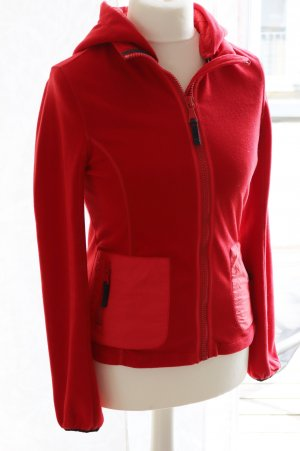 Tommy Hilfiger Giacca in pile rosso Tessuto misto