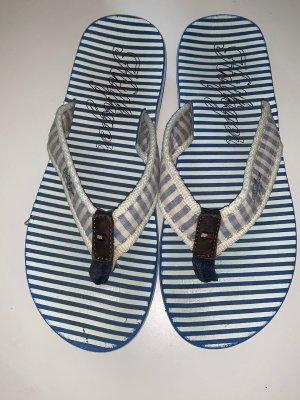 Tommy Hilfiger Sandalo toe-post bianco-blu fiordaliso