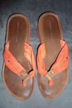 Tommy Hilfiger - Flip Flops - Zehentrenner - orange - Größe 38 -