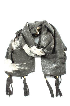 Tommy Hilfiger Écharpe à franges gris clair motif abstrait style décontracté