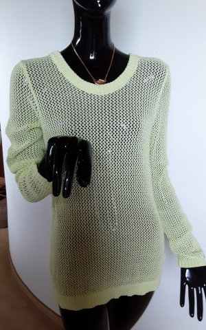 Tommy Hilfiger Crochet Sweater neon yellow