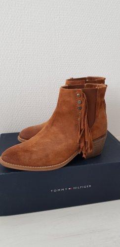 Tommy Hilfiger Denim Botki w stylu western brąz-jasnobrązowy