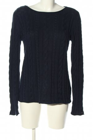 Tommy Hilfiger Grobstrickpullover blau Zopfmuster Casual-Look