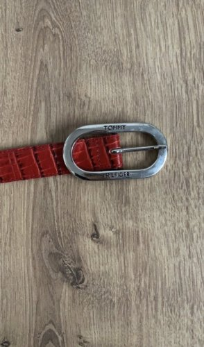 Tommy Hilfiger Leather Belt dark red-black