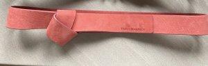 Tommy Hilfiger Cinturón de cuero rosa empolvado