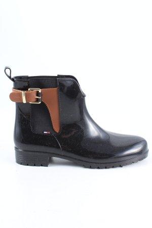 Tommy Hilfiger Gumowe buty czarny-brązowy W stylu casual