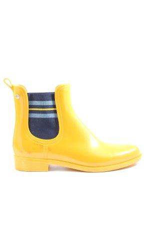 Tommy Hilfiger Botte en caoutchouc jaune primevère-bleu style décontracté