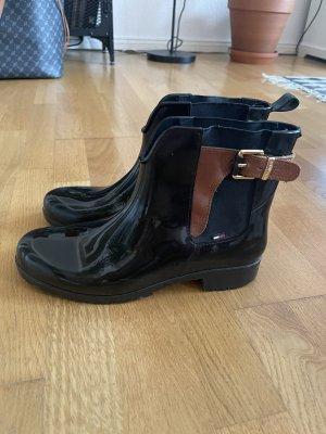 Tommy Hilfiger Gumowe buty czarny-brązowy
