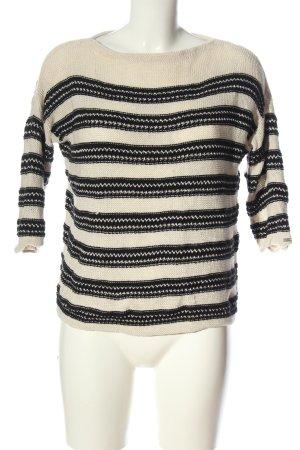 Tommy Hilfiger Szydełkowany sweter w kolorze białej wełny-czarny