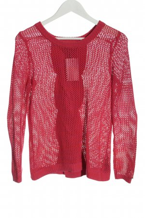 Tommy Hilfiger Pullover all'uncinetto rosso stile casual