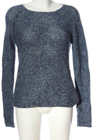 Tommy Hilfiger Szydełkowany sweter niebieski Melanżowy W stylu casual